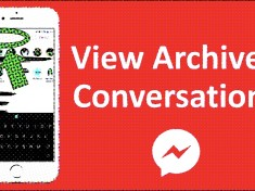 Archived messages on Facebook Messenger