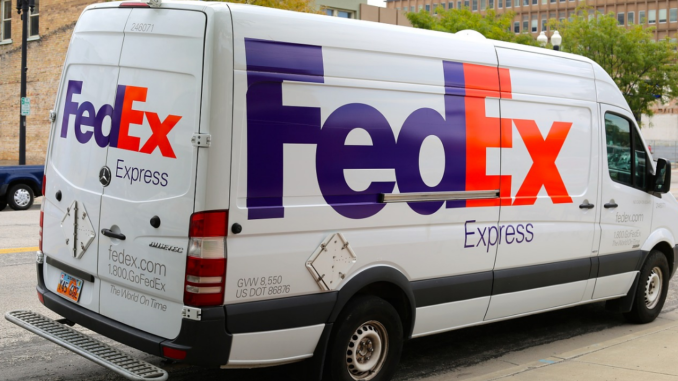 FedEx tracking system messages